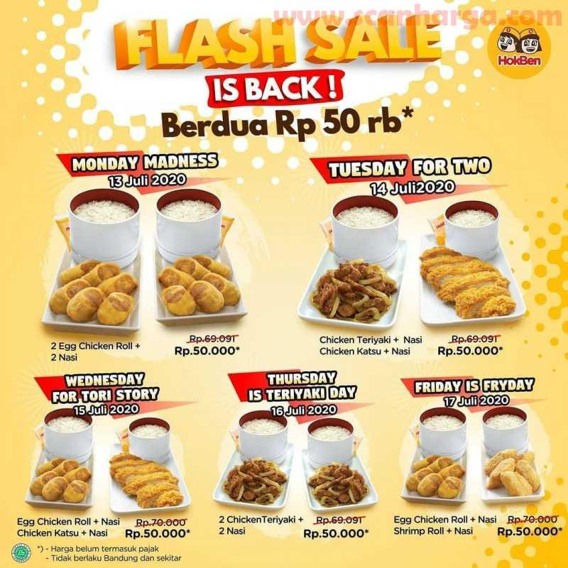 Promo Hokben Flash Sale Berdua Rp 50.000 Periode 13 - 17 Juli 2020