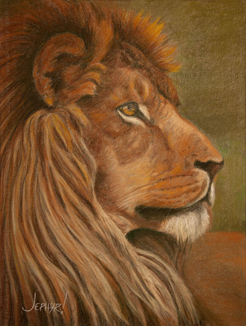 Pastel:  His Royal Highness - Copyright 2016, Jephyr!