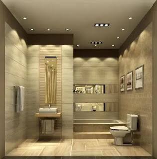 ديكورات حمامات جبس مودرن  جميلة