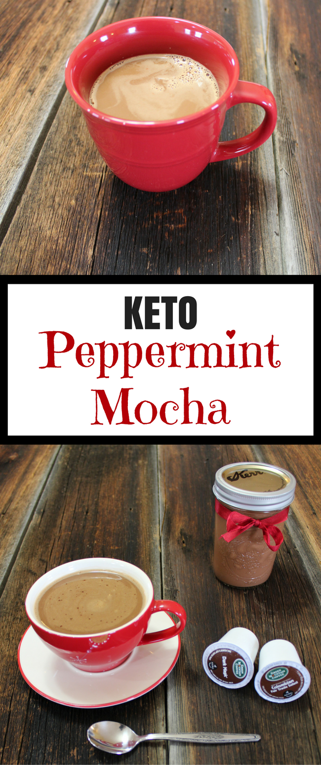 Easy Keto Peppermint Mocha Coffee Creamer Recipe