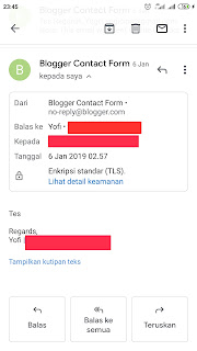 Blogger contact form widget is not delivering emails