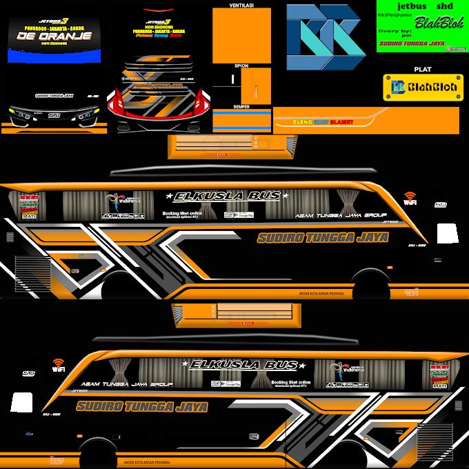 Sudiro Tungga Jaya De Oranje 005 : Skin Livery Bus Simulator Indonesia