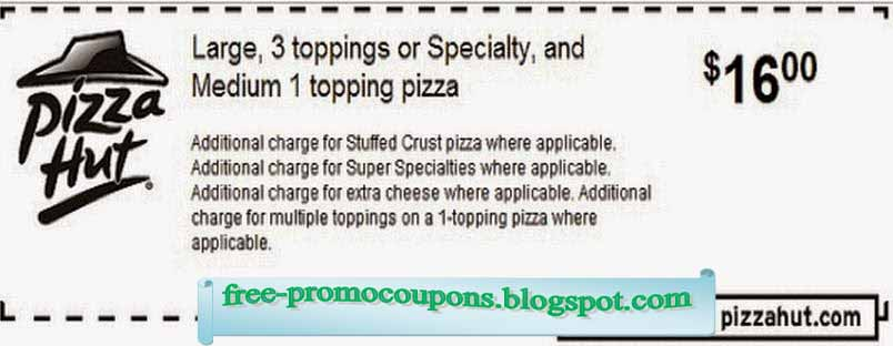 PIZZA HUT ONLINE COUPONS 2019