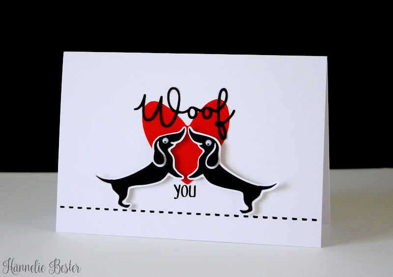 woof you dachshund card