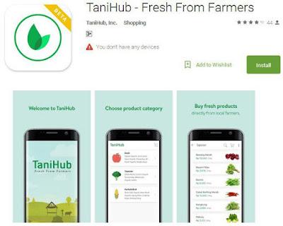 Aplikasi TaniHub di GooglePlay Store