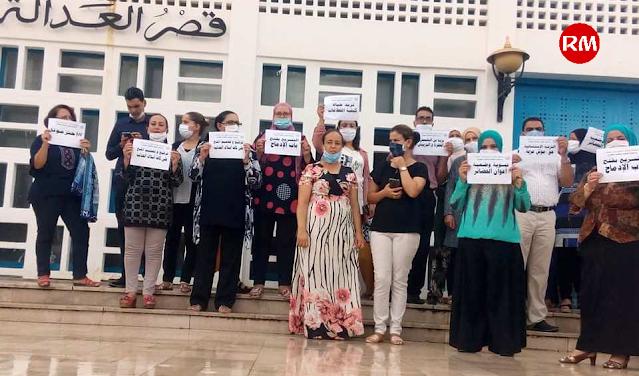 المهدية : أعوان وكتبة المحاكم ينفذون وقفة احتجاجية