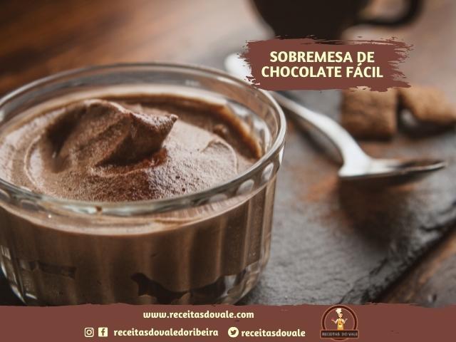 Receita de Sobremesa de Chocolate Fácil