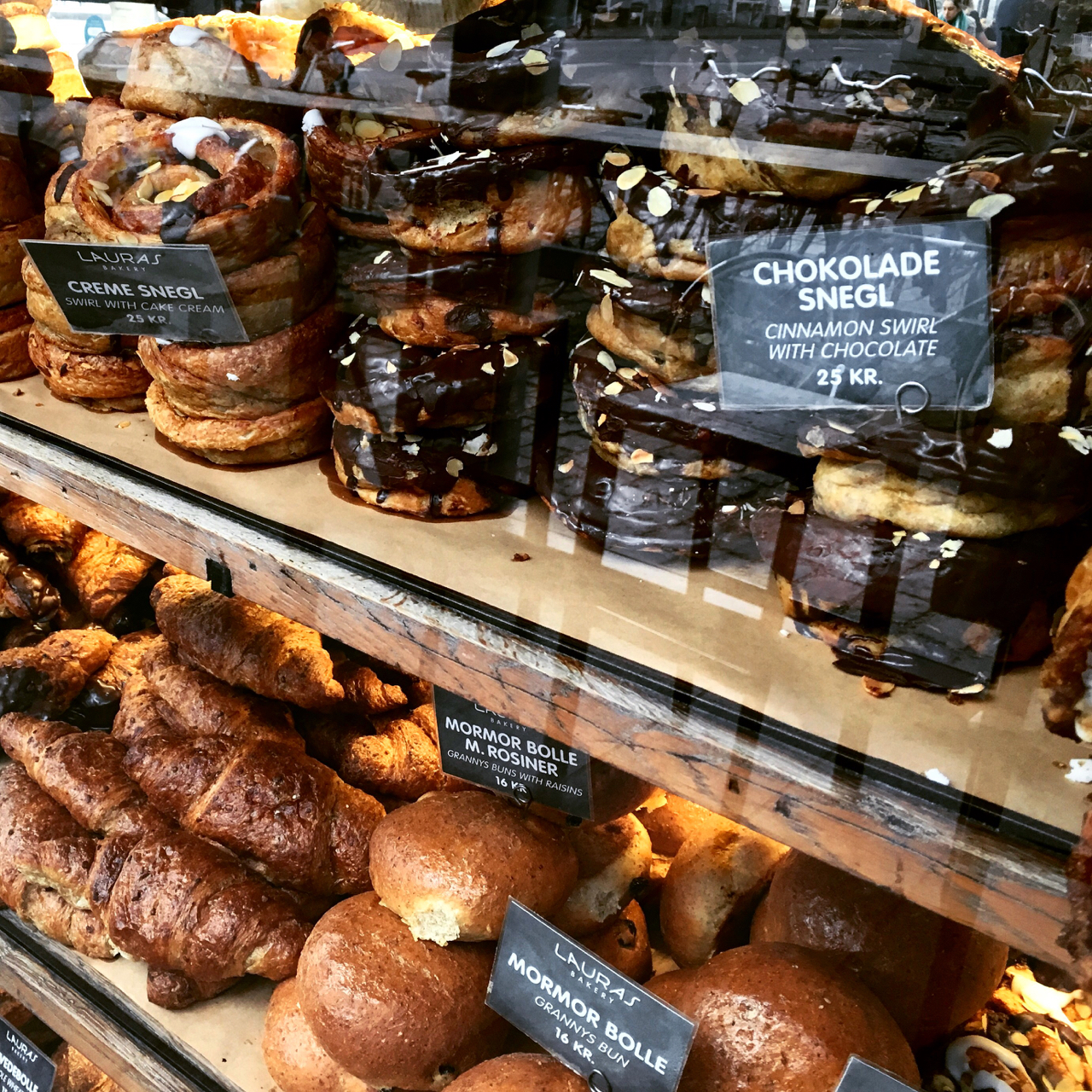 Traditional Danish pastries in Copenhagen