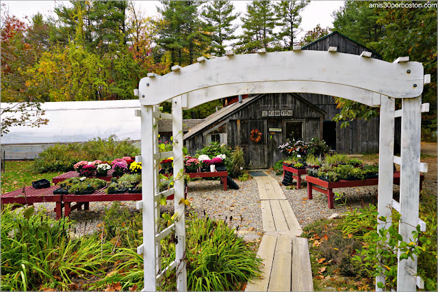 Jardines de Pickity Place en Mason, New Hampshire