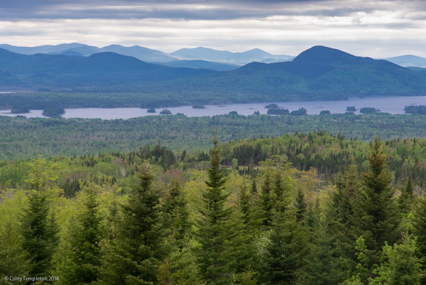Maine photo by Corey Templeton May 2018. A scenic stop near Jackman, Maine on the way to Quebec City.