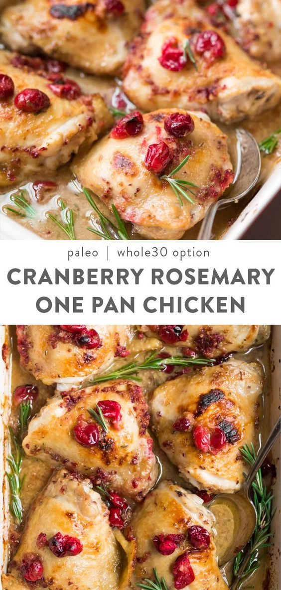 Cranberry Rosemary One Pan Chicken Recipe