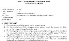 RPP Kelas 5 Tema 3 Kurikulum 2013 Revisi 2018