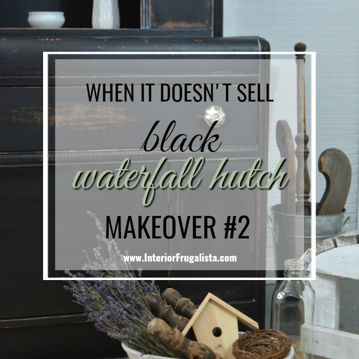Black Painted Waterfall Hutch REmakeover