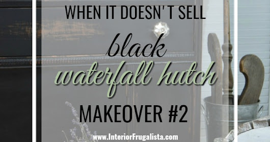 Black Painted Waterfall Hutch (Second Time Around)