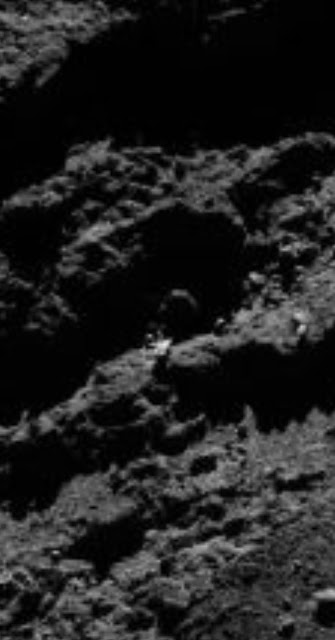 NASA photo of a Comet called 67P with a UFO on it.