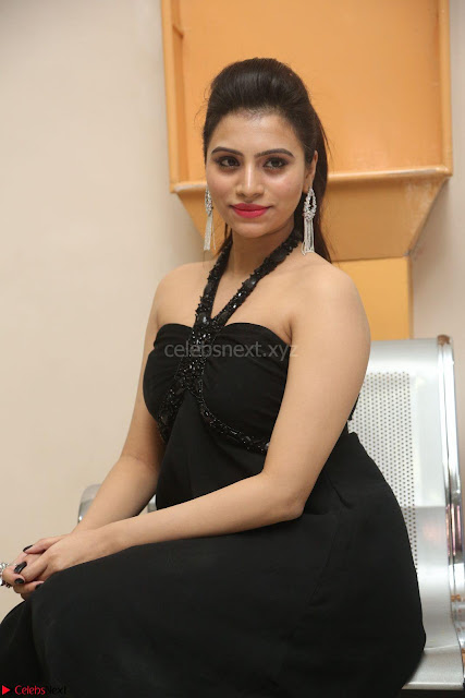 Priyanka in Sleeveless Black Slim Dress Spicy Pics ~  Exclusive 04.JPG