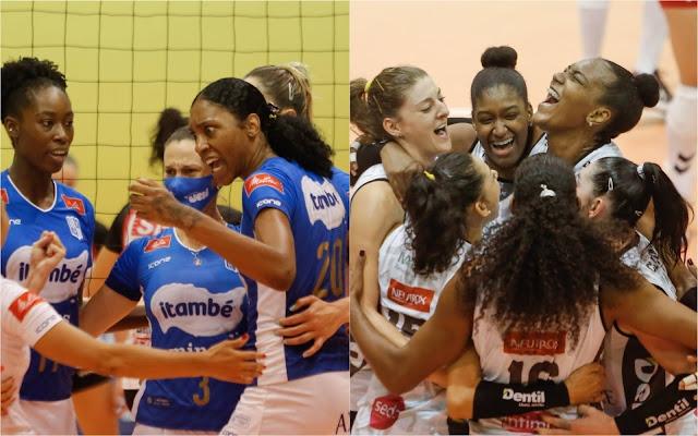 Dentil/Praia Clube e Itambé/Minas farão final da Copa Brasil de vôlei feminino