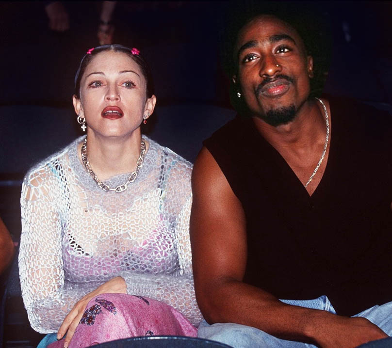 Madonna and the late rapper Tupac