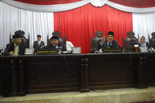 DPRD Sumsel dan Gubernur Teken Nota Kesepakatan KUA dan PPAS APBD 2019