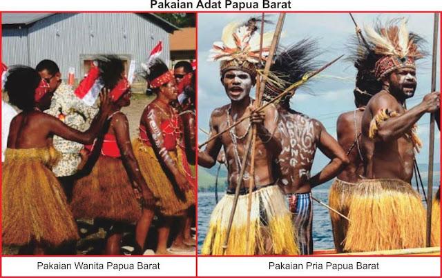gambar baju adat papua barat