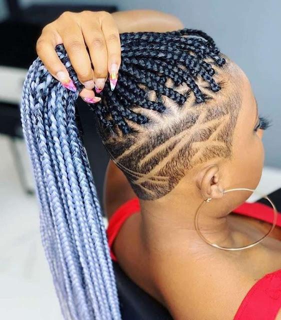 Blonde box braid styles