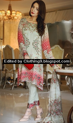Embroidered Eid Luxury Silk Dresses 2015