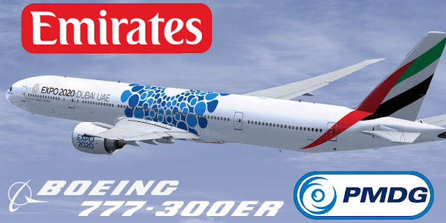 B773ER AG-EBC EMIRATES DUBAI EXPO 2020 PARA PMDG (FSX
