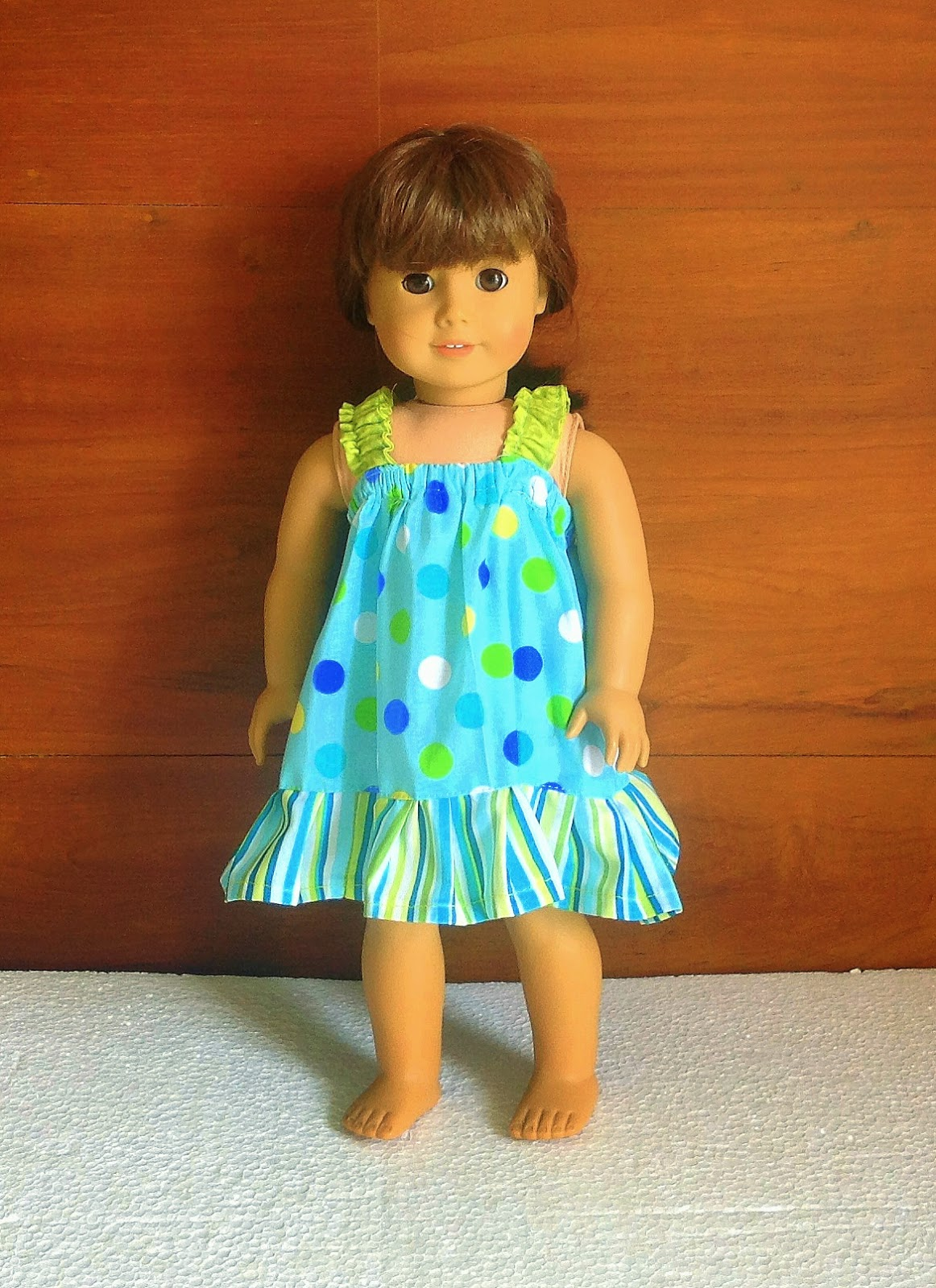 Sewing patterns for girls dresses and skirts easy sundress sewing this is the simplest dress you can sew for your little girls american 18 inch doll this dress has no curved seams but only straight seams which can be jeuxipadfo Images