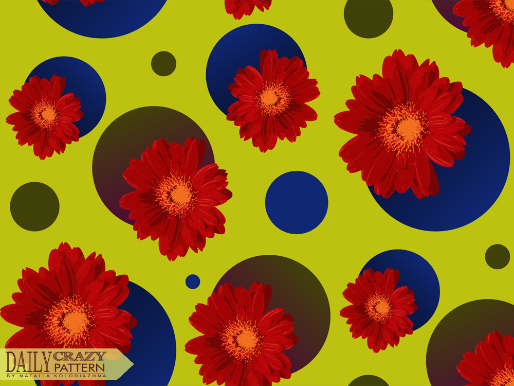 Bright pattern with flowers
