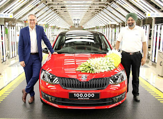 SKODA AUTO India celebrates the rollout of the 100,000th RAPID