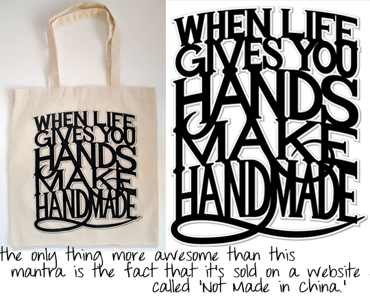 When Life Gives You Hands tote