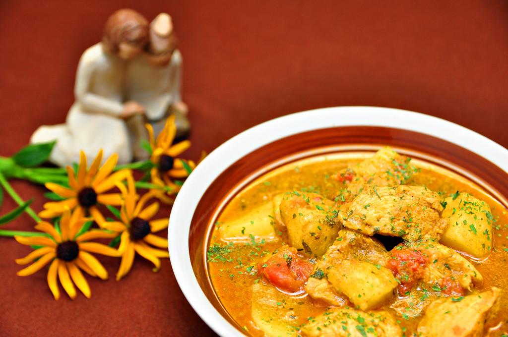 Goan Chicken Curry Kid Friendly Yellow Version