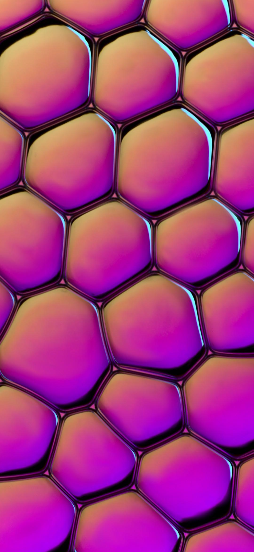 خلفية نقش خلايا الشمع الارجوانية