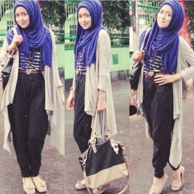 Jual Online Dahlia Hijab Krem Model Busana Muslim Murah diJakarta