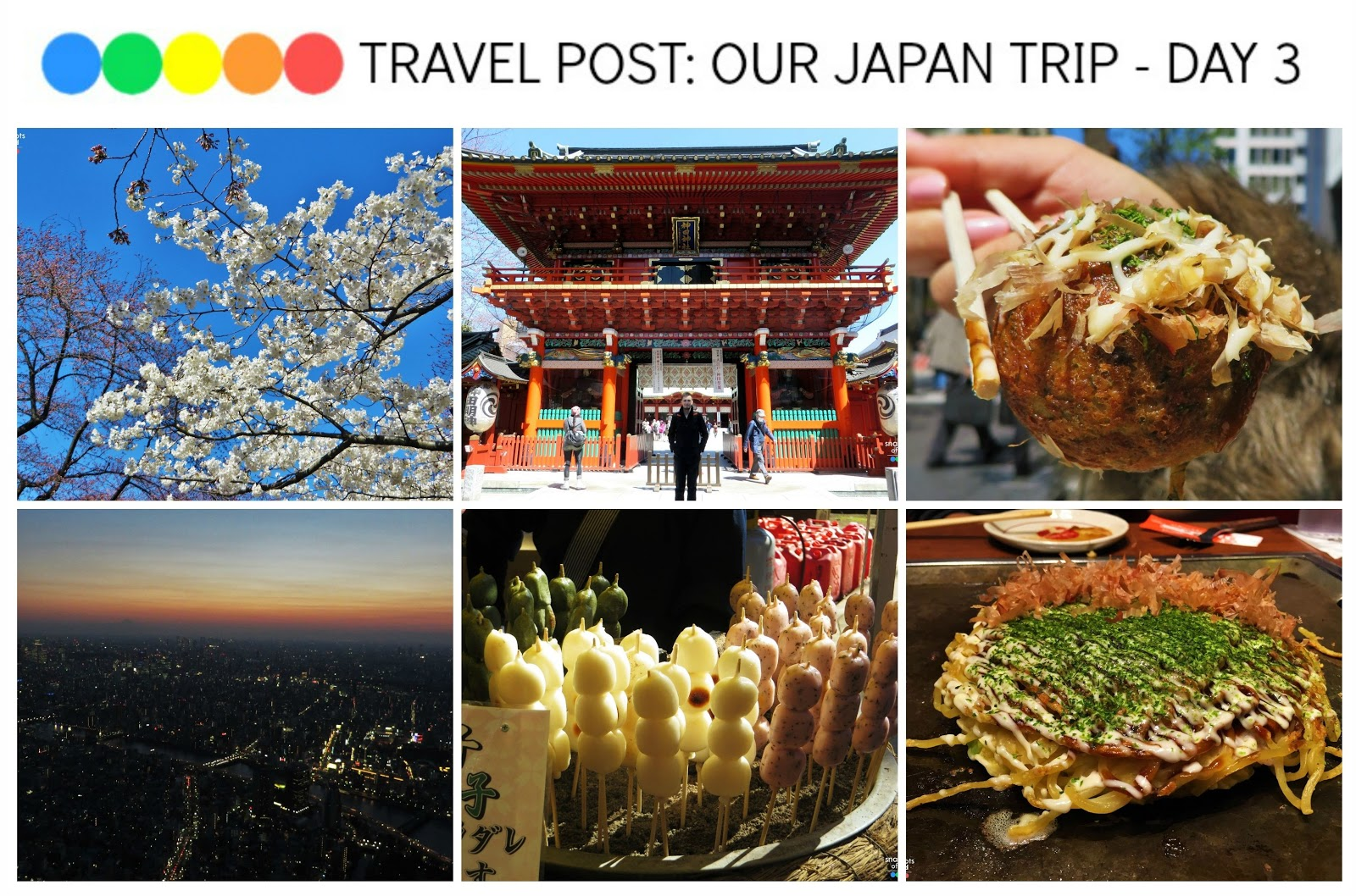 Travel post: Our Japan Trip - Day 3 (Myojin Shrine, Anime Centre, Akihabara, Gindaco Takoyaki, Ueno Park, Ueno Park Food Stalls, Ameyokocho, Sumida Skytree and Restaurant Okonomiyaki Yukari)
