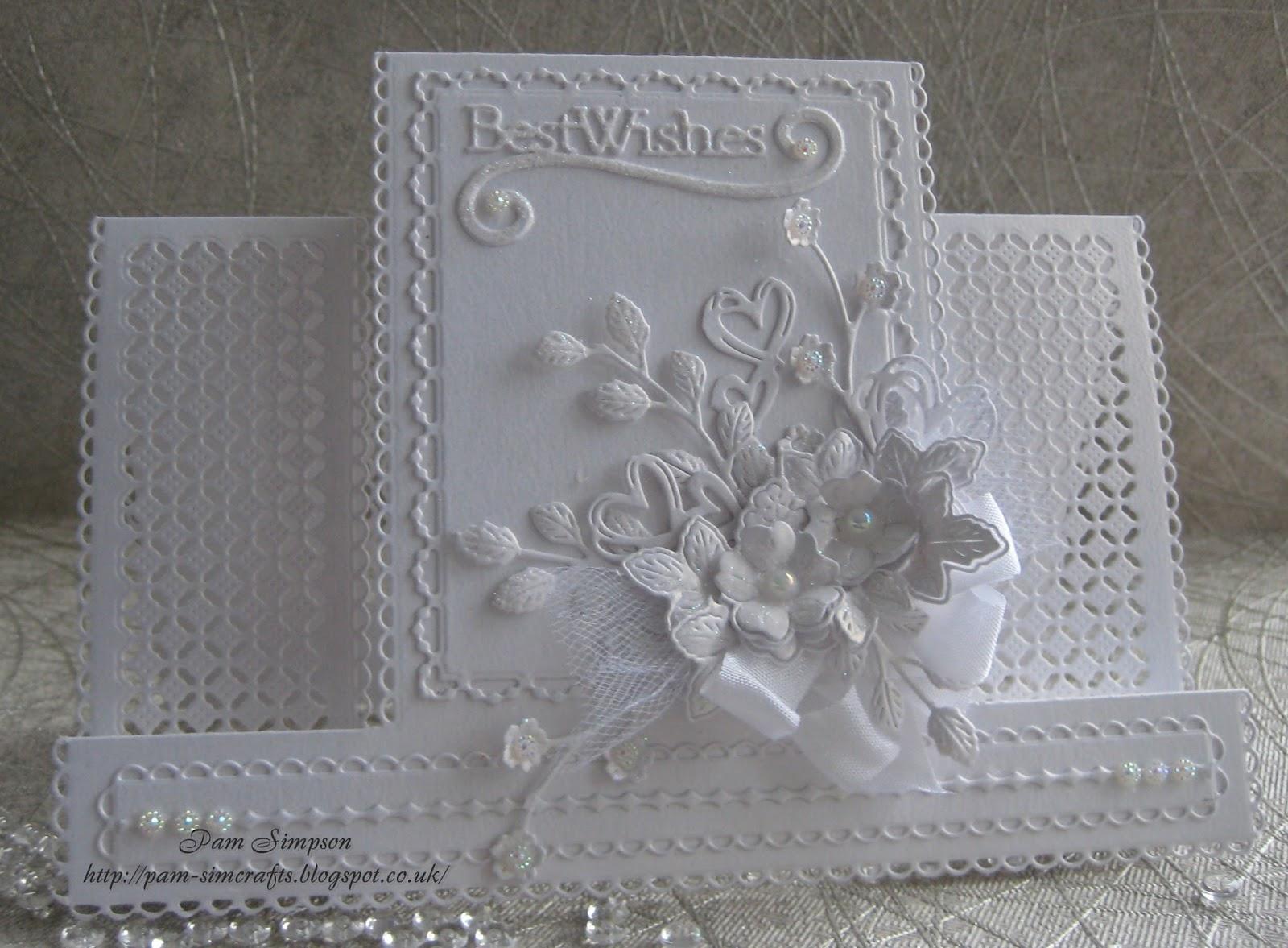 pamscrafts: White on White Birthday Card.