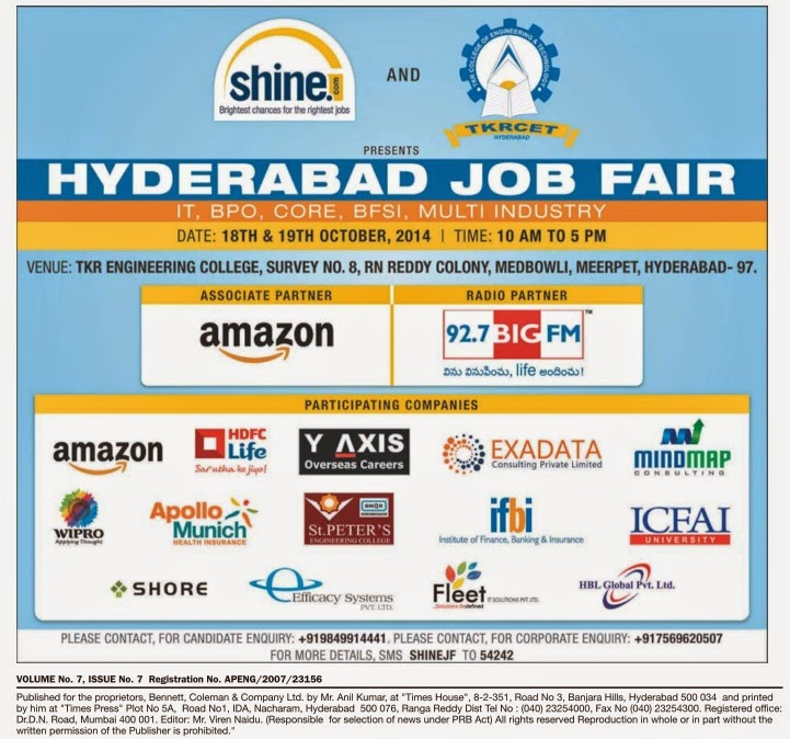 Job Updates for the Week 15-Oct-2014