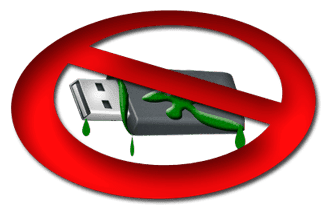 Pen drive infectado con malware