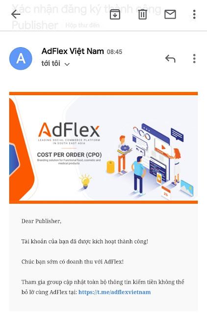 AdFlex là gì ? Hướng dẫn kiếm tiền online với Adflex