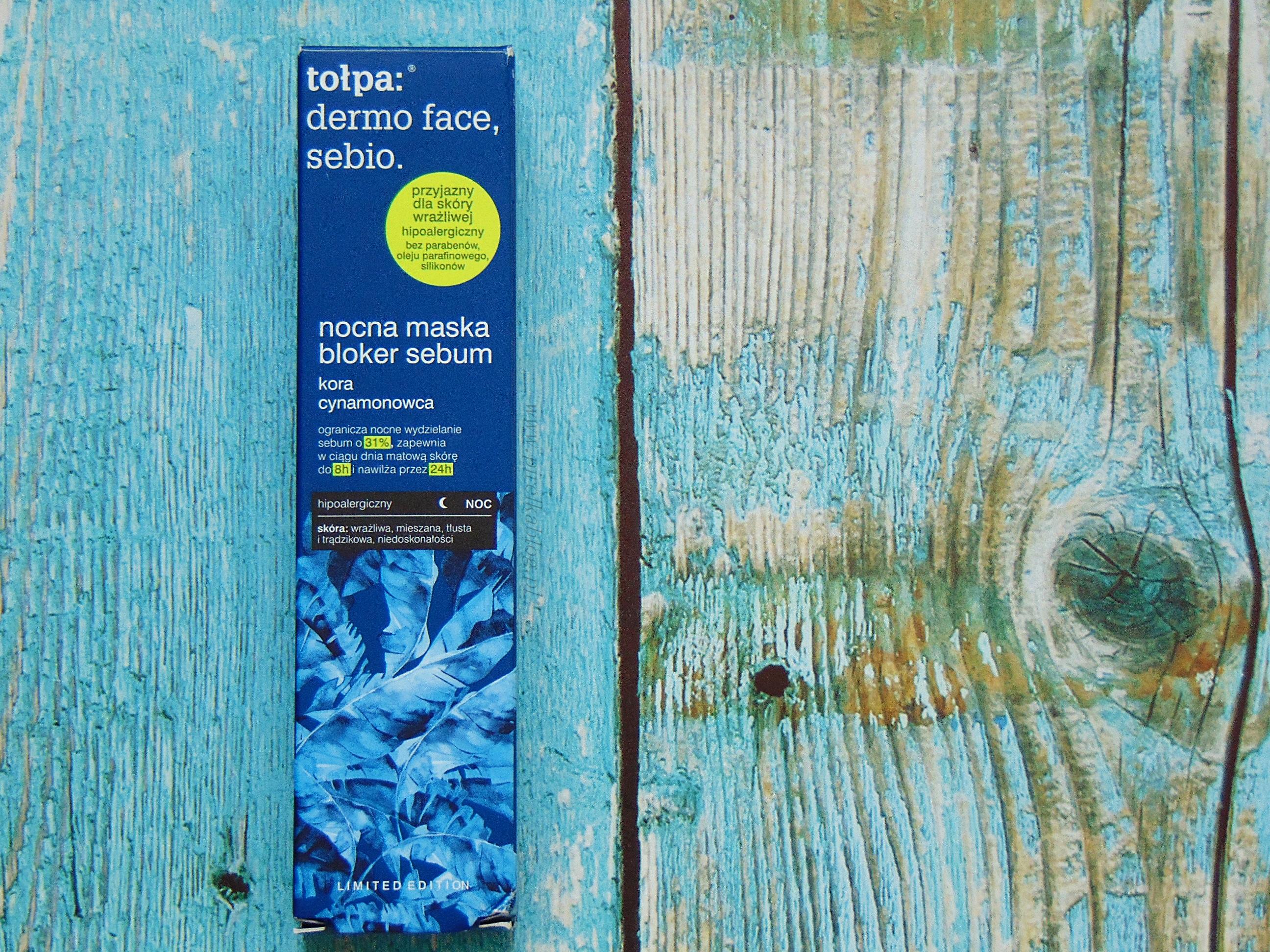 Tołpa sebio - Nocna maska-bloker sebum