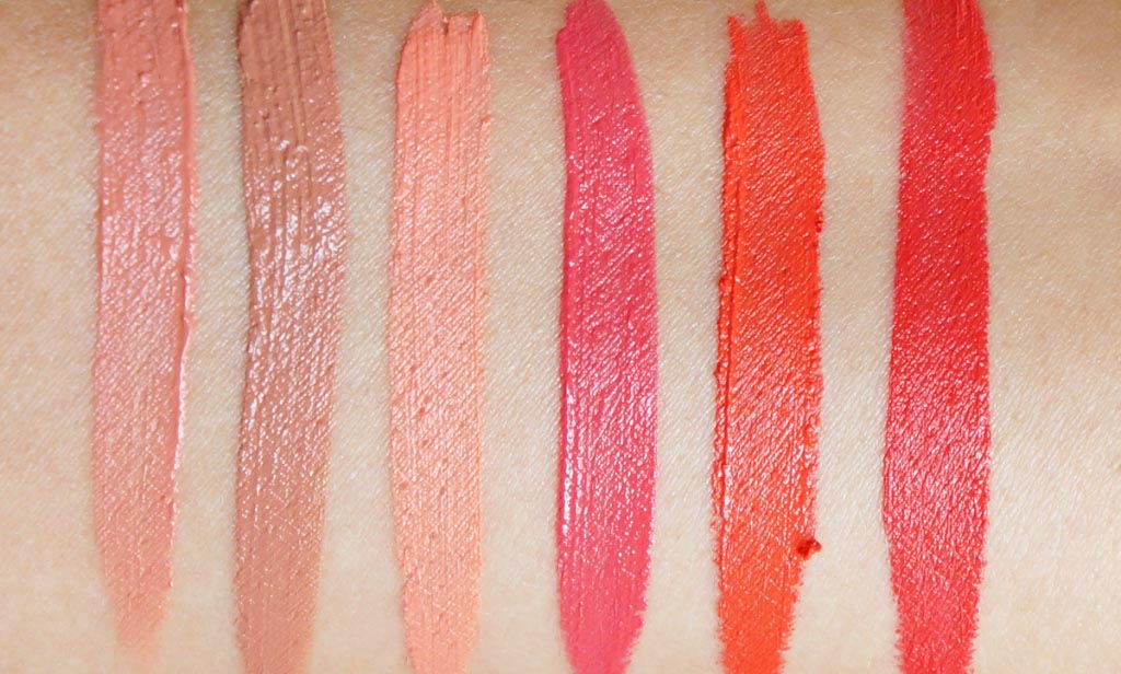 NYX Soft Matte Lip Cream Swatches on light skin
