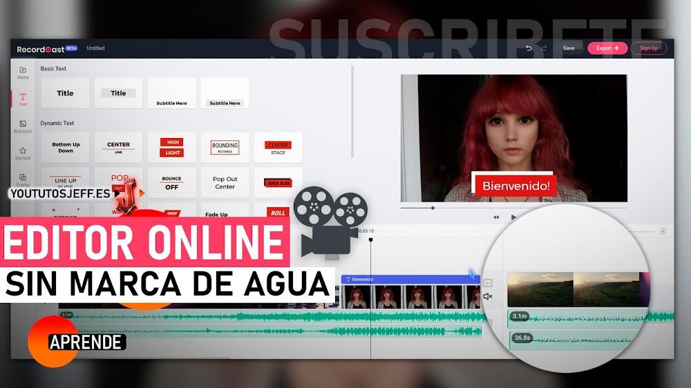 El Mejor Editor de Video Online SIN MARCA DE AGUA