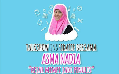 talkshow menulis Asma Nadia