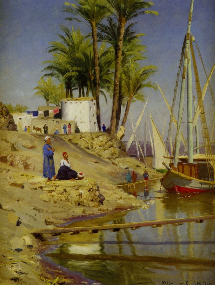 Peder Mork Mønsted (1859-1941) - A Danish Plein Air Genre Painter