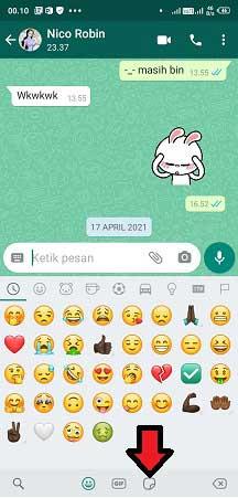 cara menghapus stiker whatsapp yang tersimpan