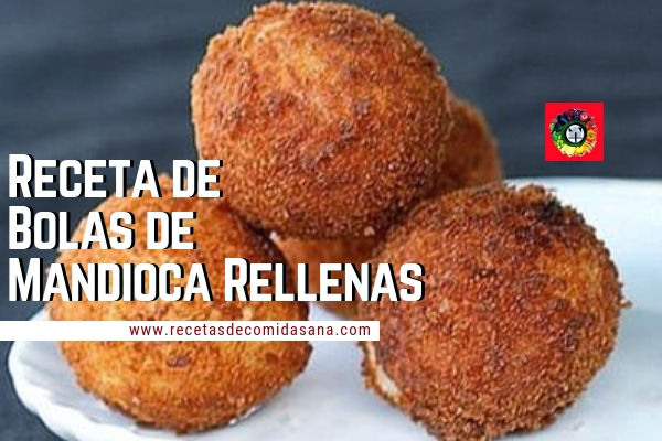 Receta de Bolas de Mandioca Rellenas de queso Roquefort
