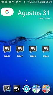 DOWNLOAD BBM MULTI (BBM2+BBM3+BBM4+BBM5) V3.0.1.25 APK VERSI TERBARU 2016