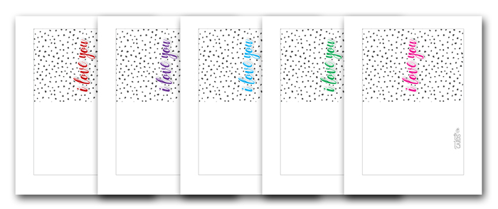 I Love You Card Printables