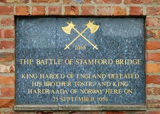 Monumento conmemorativo batalla de Stamford Bridge