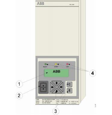 مكونات جهاز الوقايه ضد زياده التيارREJ525  من ABB